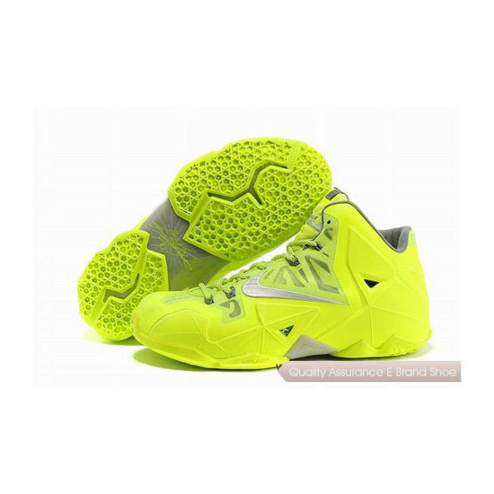 Nike LeBron 11 Volt Fluorescence Green Basketball Shoes
