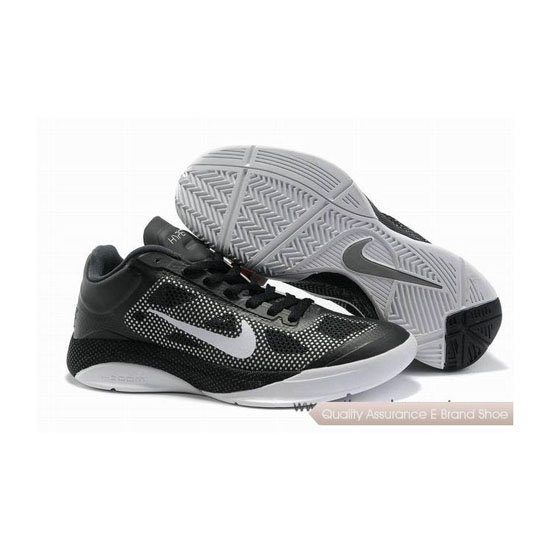 Nike Zoom Hyperfuse Low Black Cool/Grey/White Basketball Shoes
