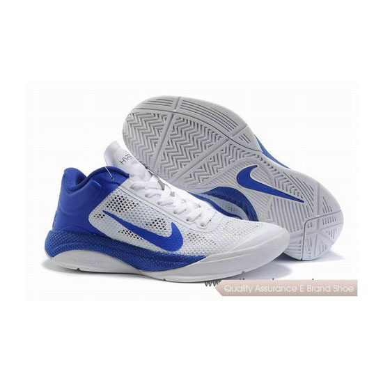 Nike Zoom Hyperfuse Low White/Blue Basketball Shoes