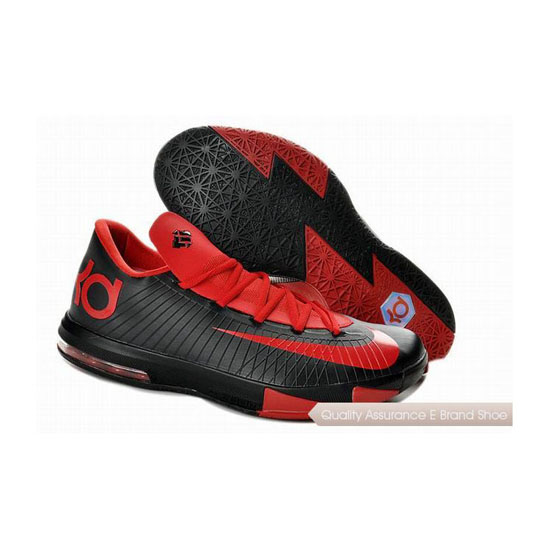 Nike Zoom KD VI Black/Red Basketball Shoes