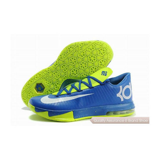 Nike Zoom KD VI Blue/Fluorescent Green Basketball Shoes
