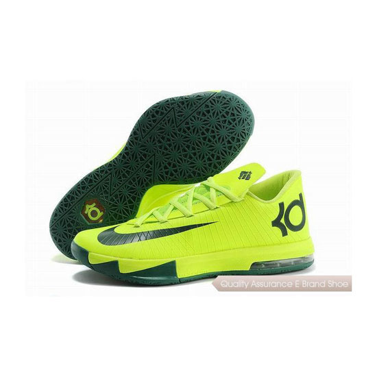 Nike Zoom KD VI Fluorescent Green/Black Basketball Shoes