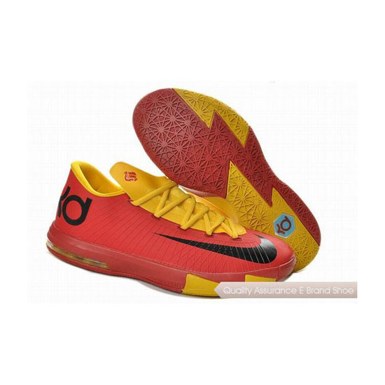 Nike Zoom KD VI Sport Red/Yellow Basketball Shoes
