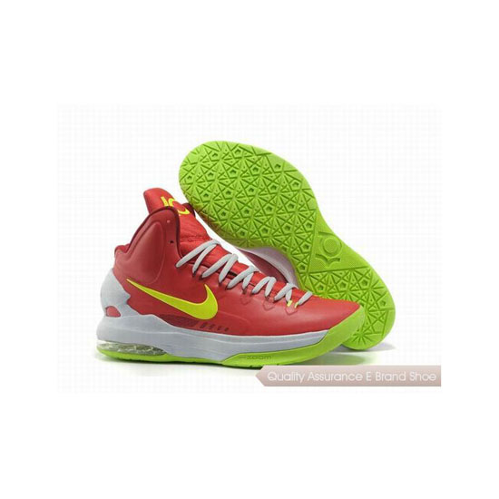 Nike Zoom Kevin Durant KD V Shoes Red/White/Green Basketball Shoes