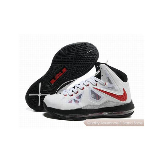 Nike Zoom Lebron 10(X) Basketball Shoes White/Black/Red