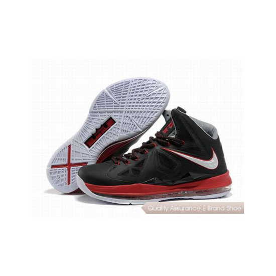 Nike Zoom Lebron 10(X) Black/Red/White Basketball Shoes