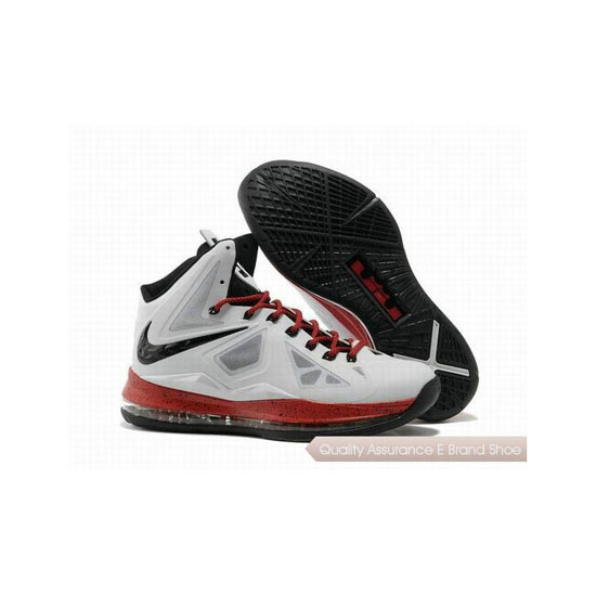 Nike Zoom Lebron 10(X) Miami White/Red/Black Basketball Shoes