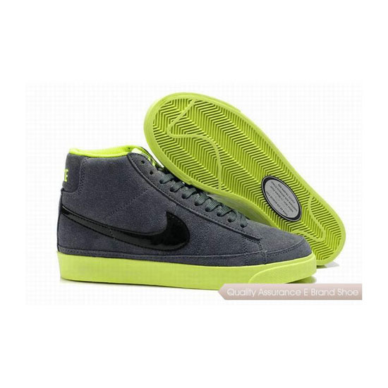 Nike Blazer II Mens Suede Gray Black Skateboarding Shoes