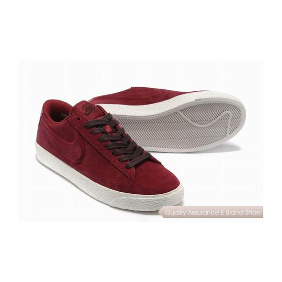 Nike Blazer IV Womens Winered Brown Skateboarding Shoes