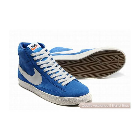 Nike Blazer I Mens Blue White Skateboarding Shoes