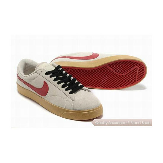 Nike Blazer III Mens Beige Red Skateboarding Shoes