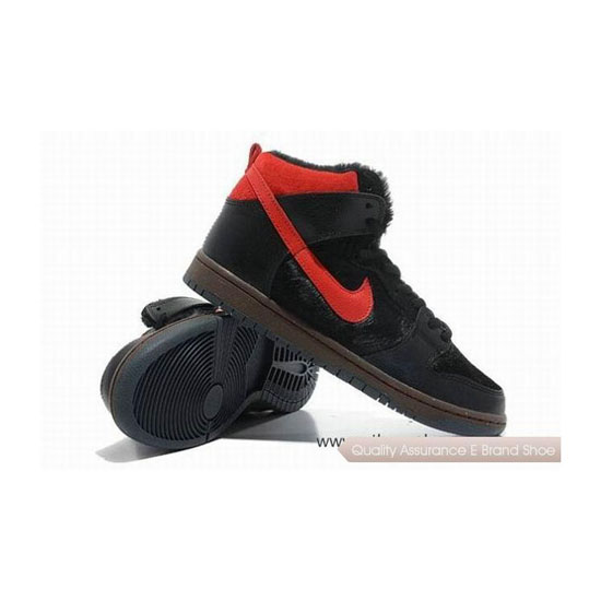 Nike Dunk Black Red Mens Sneakers