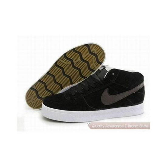 Nike Dunk Mid Black White Mens Sneakers