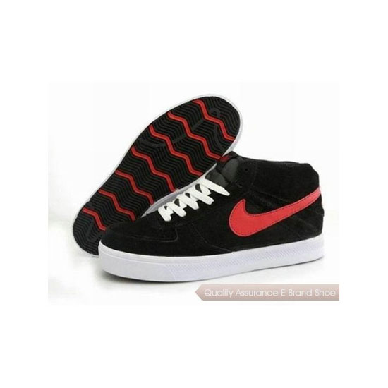 Nike Dunk Mid Black White Red Mens Sneakers