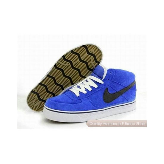 Nike Dunk Mid Blue White Mens Sneakers