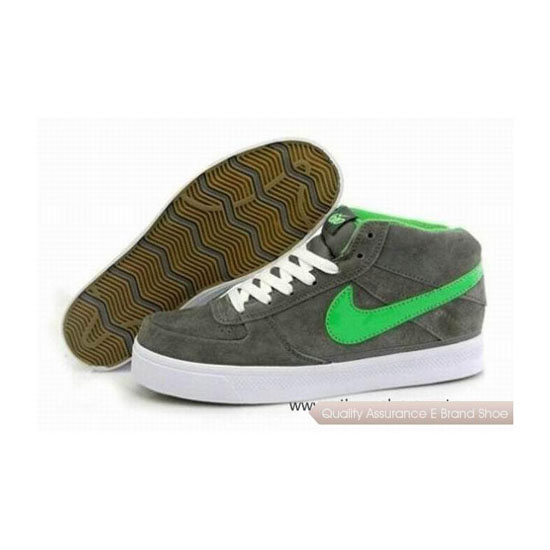 Nike Dunk Mid Grey Green White Mens Sneakers
