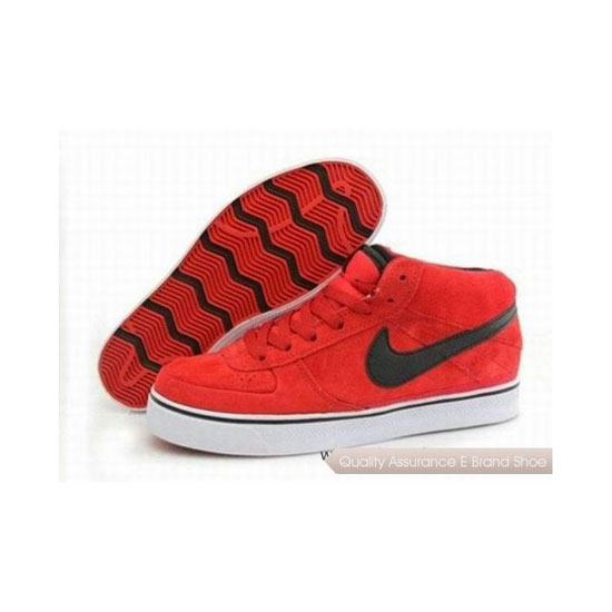 Nike Dunk Mid Red Black Mens Sneakers