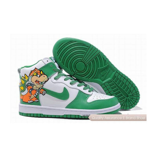 Nike Dunk SB green white Mens Sneakers