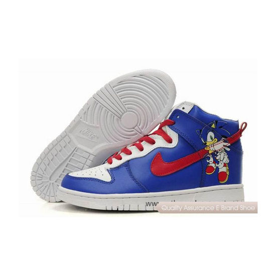 Nike Dunk SB  Custom Sonic blue red white Mens Sneakers