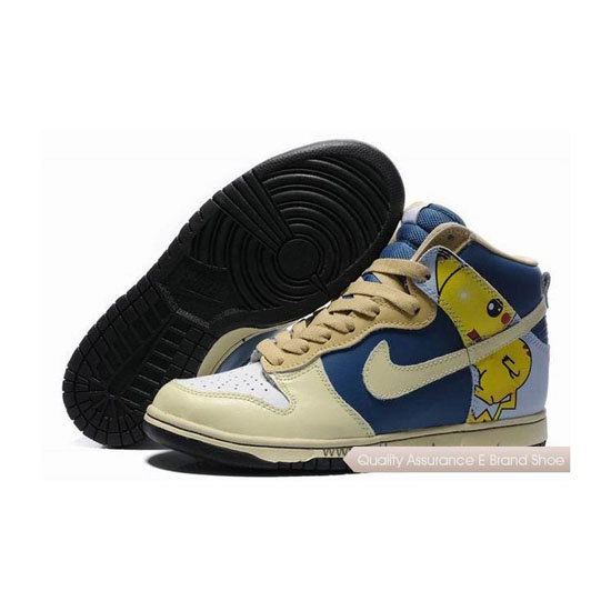 Nike Dunk SB Pokemon Pikachu wheat royal blue white Mens Sneakers