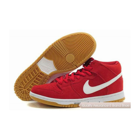 Nike Dunk SB Mid Pro Brickhouse red White Mens Sneakers