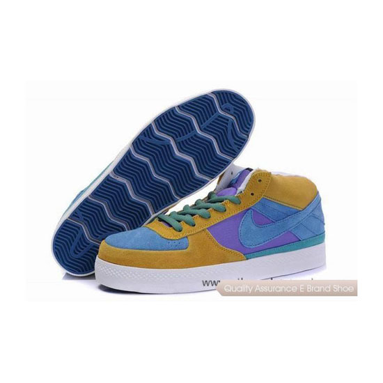 Nike Dunk SB Mid yellow blue purple Mens Sneakers