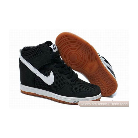 Nike Dunk SB Hi 2014 Black White Womens Sneakers