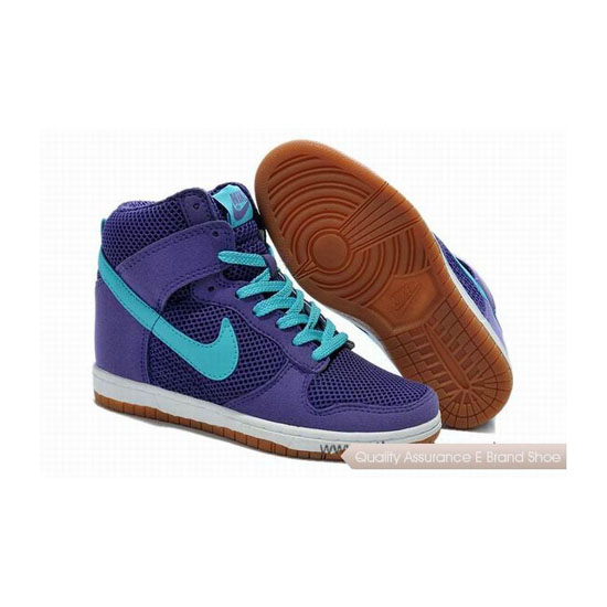 Nike Dunk SB Hi 2014 Dark Purple Blue Womens Sneakers