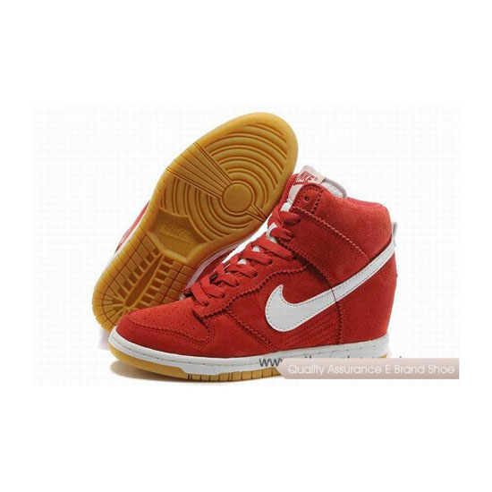 Nike Dunk Shy City Red White Womens Sneakers