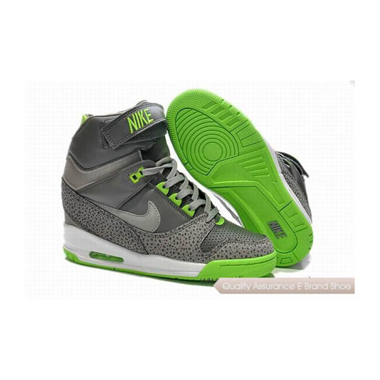 NIKE AIR REVOLU HI Gray Green Womens Sneakers