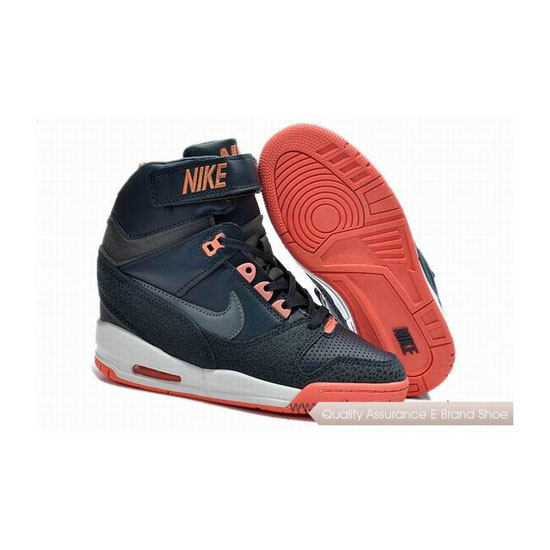NIKE AIR REVOLU HI Gray Orange Womens Sneakers