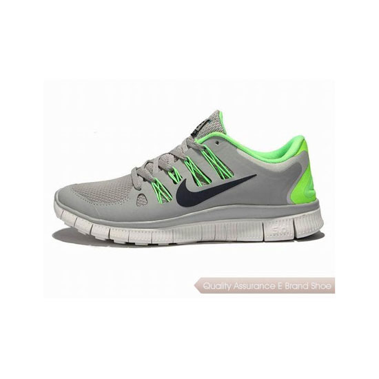 Nike Free 5.0+ Mens Running Shoe Grey Green Black