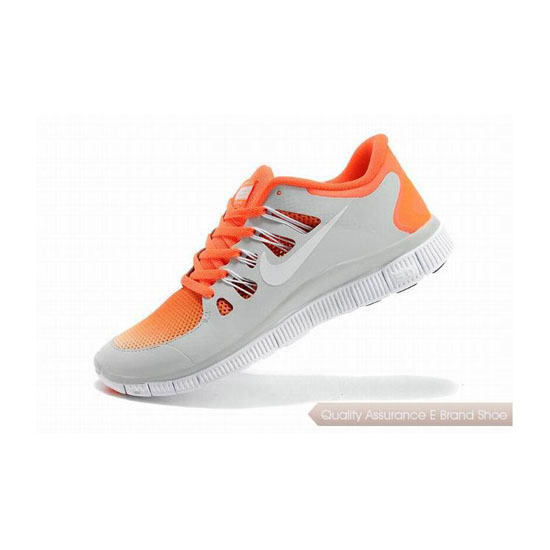 Nike Free 5.0+ Mens Running Shoe Grey Orange