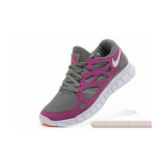 Nike Free Run+ 2 Womens Running Shoe Grey White Purple