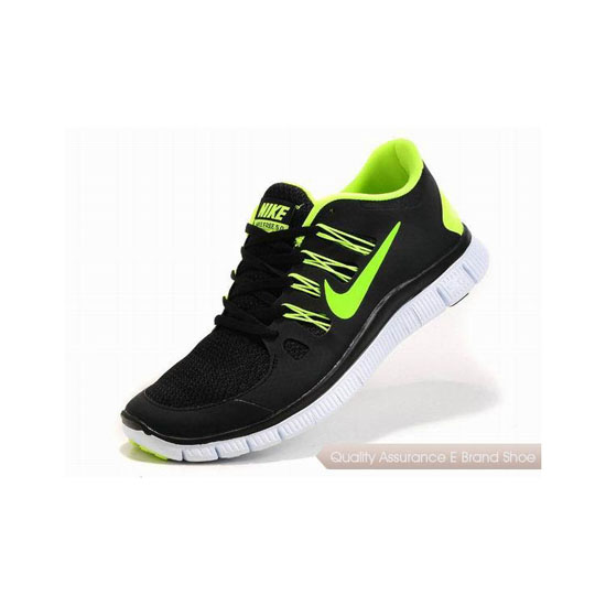 Nike Free 5.0+ Mens Running Shoe Black Green