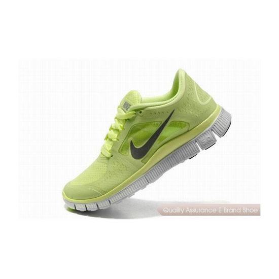 Nike Free Run+ 3 Womens Running Shoe Green Grey