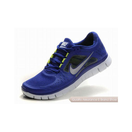 Nike Free Run+ 3 Womens Running Shoe Navy Silver