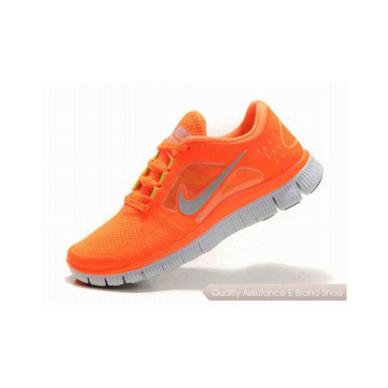 Nike Free Run+ 3 Womens Running Shoe Orange Silver