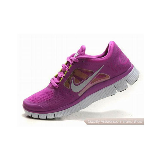 Nike Free Run+ 3 Womens Running Shoe Purple Silver