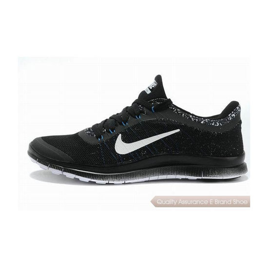 Nike Free 3.0 V6 Mens Running Shoe Black White Blue