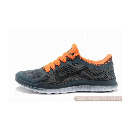 Nike Free 3.0 V6 Mens Running Shoe Dark Grey Orange
