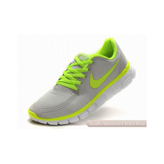 Nike Free 5.0 V4 Womens Running Shoe Grey Green