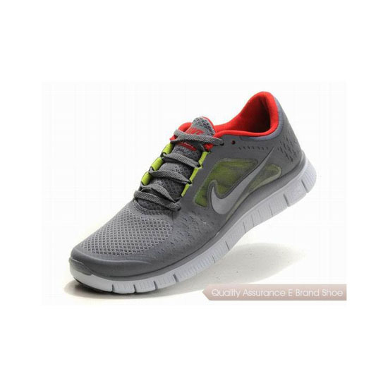 Nike Free Run+ 3 Womens Running Shoe Grey Red