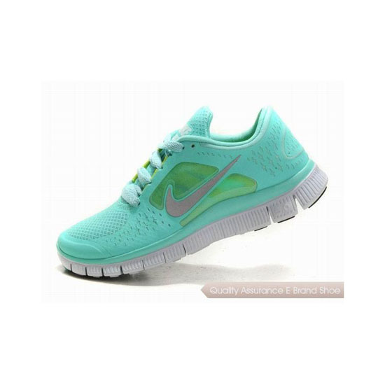 Nike Free Run+ 3 Womens Running Shoe Light Green Grey