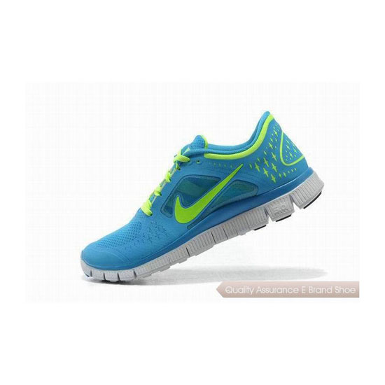 Nike Free Run+ 3 Womens Running Shoe Blue Green