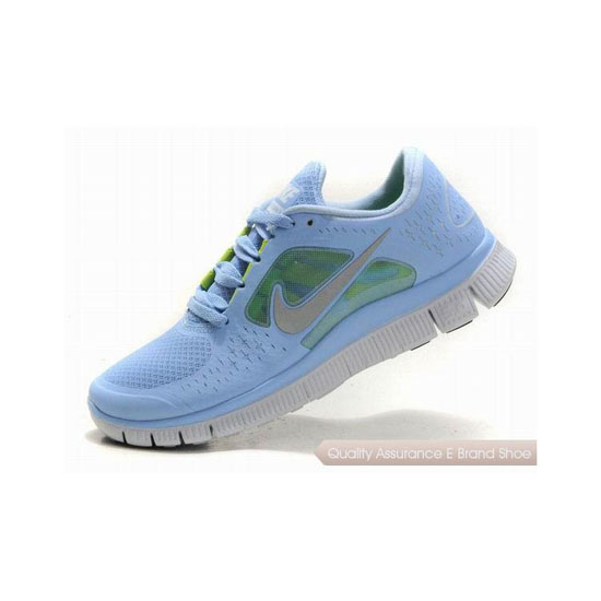 Nike Free Run+ 3 Womens Running Shoe Light Blue Silver