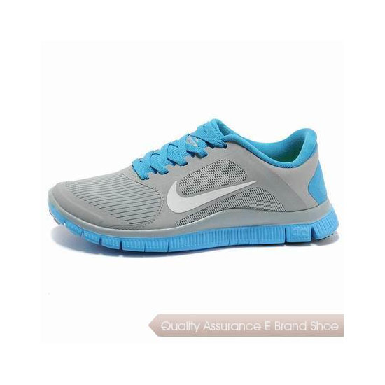 Nike Free 4.0 V3 Womens Running Shoe Grey Blue