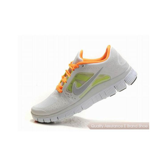 Nike Free Run+ 3 Womens Running Shoe Green Orange