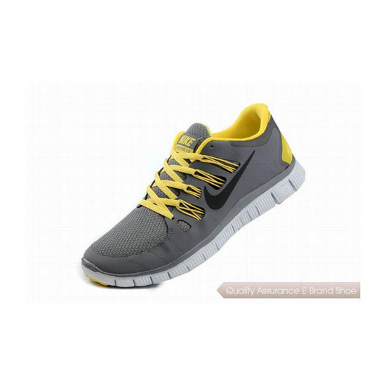 Nike Free 5.0+ Mens Running Shoe Grey Yellow Black
