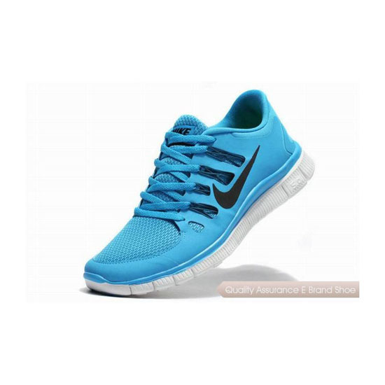 Nike Free 5.0+ Mens Running Shoe Light Blue Black